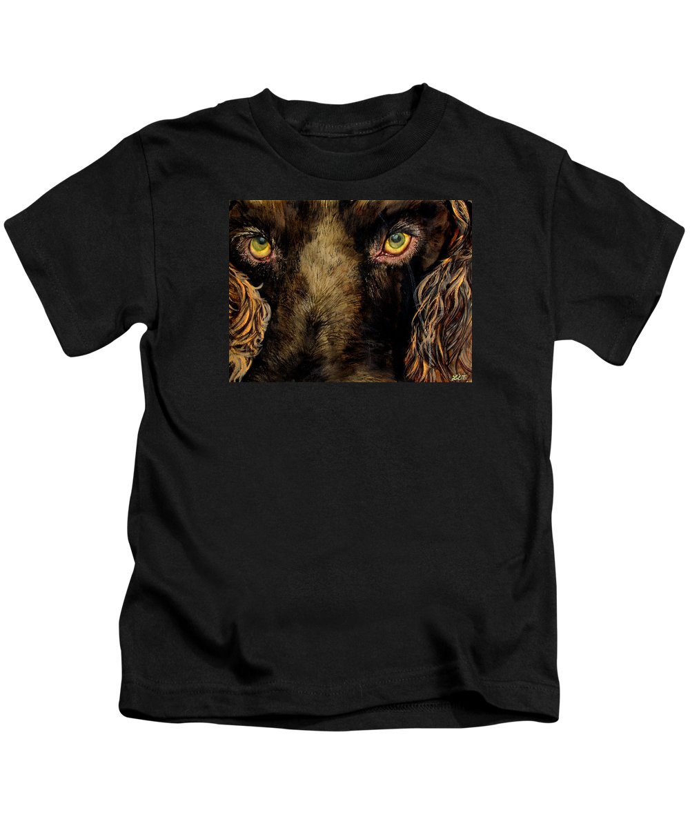 Spaniel Kids T-Shirt featuring the painting My Charlie by Lil Taylor