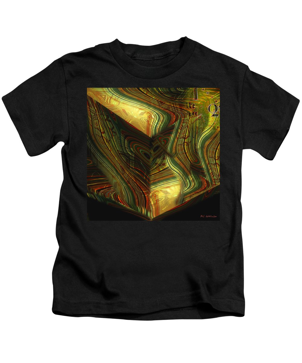 Abstract Kids T-Shirt featuring the painting I Have Set Aside A Block Of Time by RC DeWinter