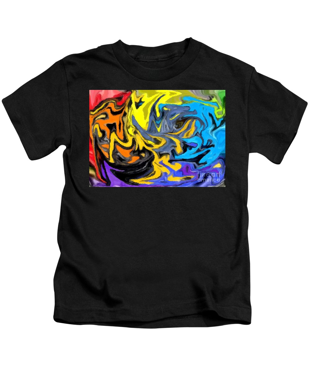 Abstract Kids T-Shirt featuring the digital art I Like It 3 by Chris Butler