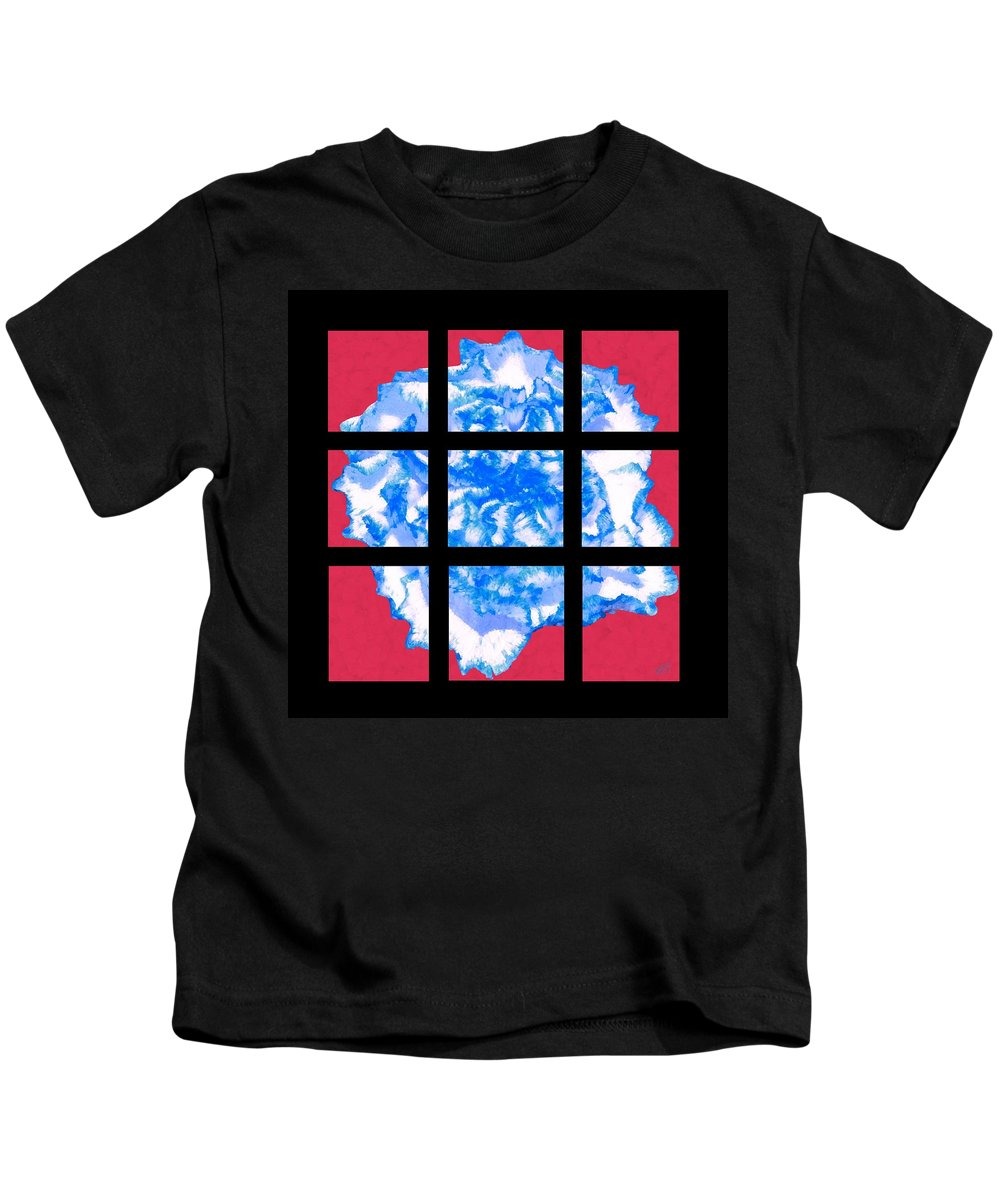 Bruce Kids T-Shirt featuring the painting I Love Carnations Mosaic by Bruce Nutting