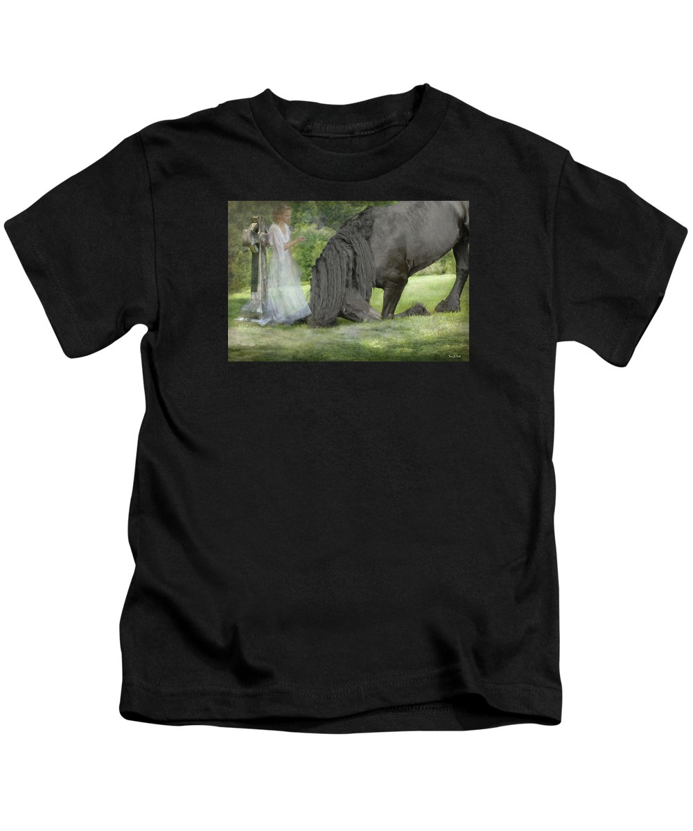 Horses Kids T-Shirt featuring the photograph I Miss You by Fran J Scott