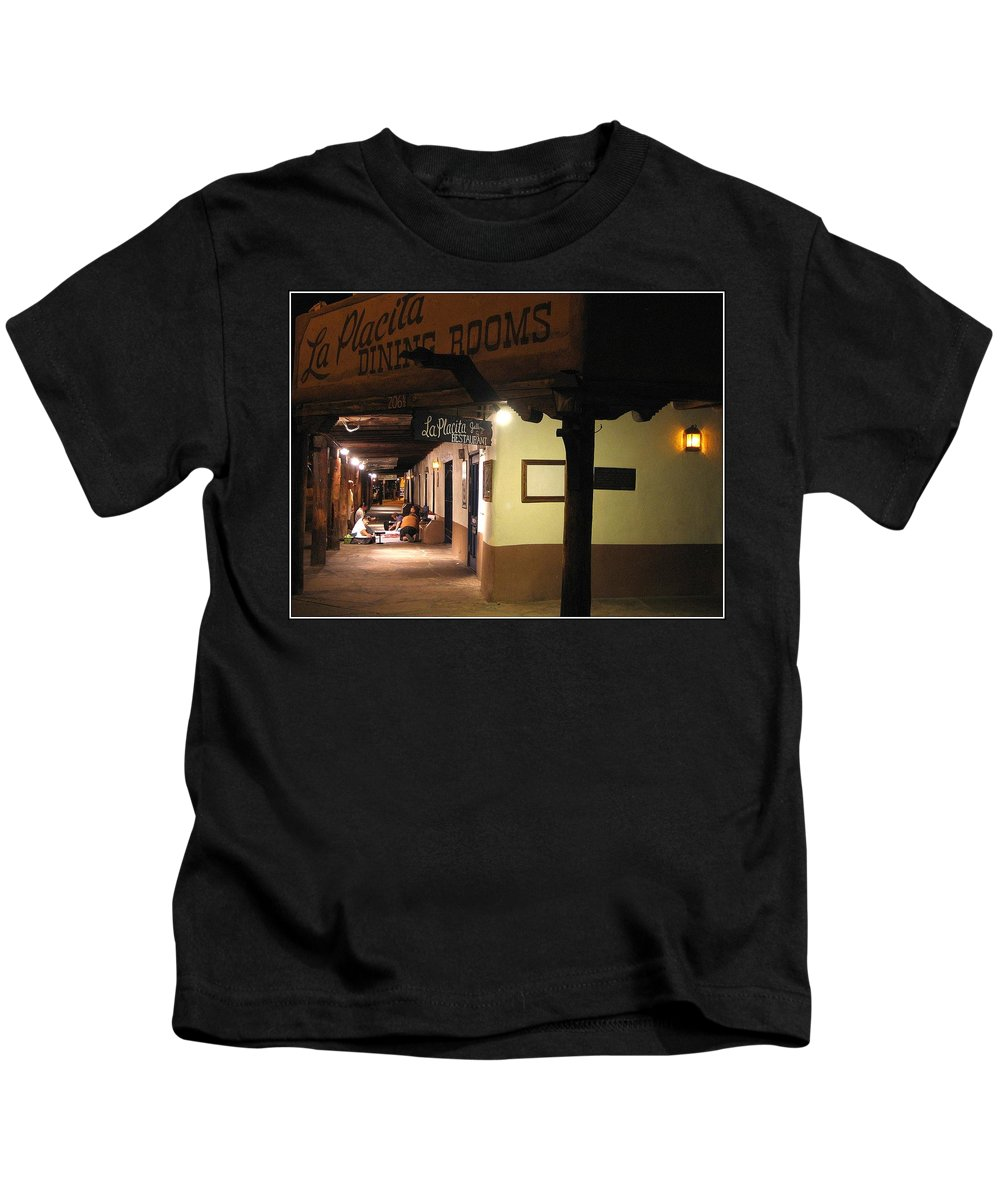 New Mexico Kids T-Shirt featuring the photograph Iconic La Placita - Albuquerque by Dora Sofia Caputo Photographic Design and Fine Art