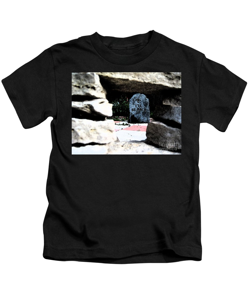 Irst Star Art Kids T-Shirt featuring the photograph I'll Be Back By Jrr by First Star Art