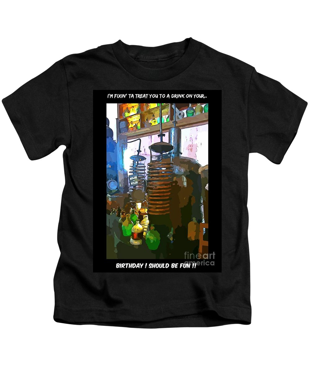 I'm Fixing You A Drink Kids T-Shirt featuring the photograph I'm Fixing You A Drink by John Malone
