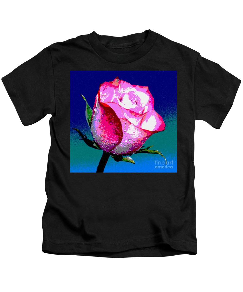 Rose Kids T-Shirt featuring the photograph I'm Yours by Krissy Katsimbras