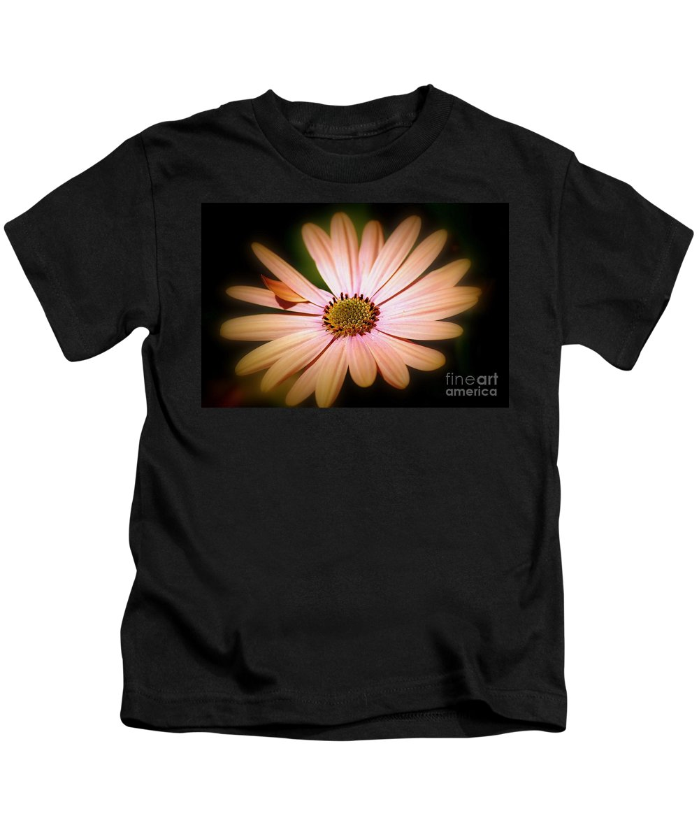 Daisy Kids T-Shirt featuring the photograph Imperfect Glow by Beth Phifer