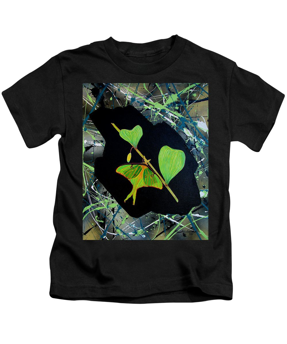 Abstract Kids T-Shirt featuring the painting Imperfect IIi by Micah Guenther