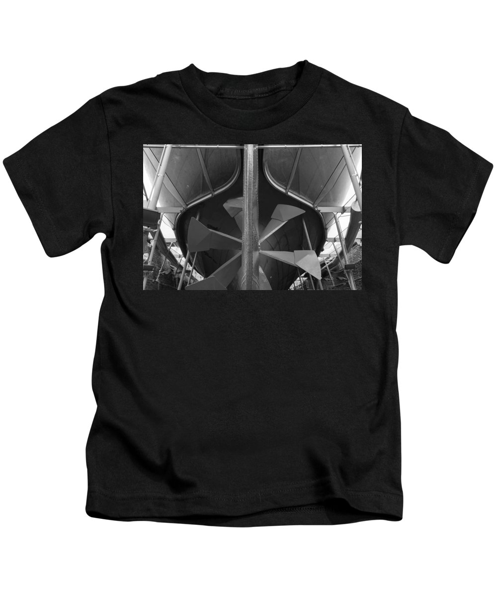 Propeller Kids T-Shirt featuring the photograph In Dry Dock by Mair Hunt
