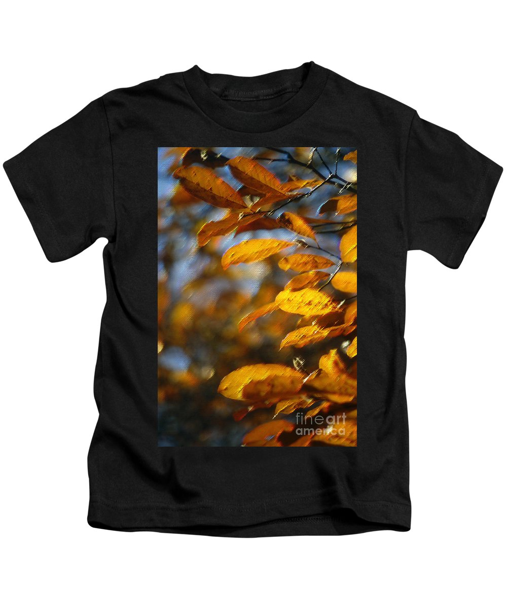 Leaves Kids T-Shirt featuring the photograph In Full Color by Beth Phifer