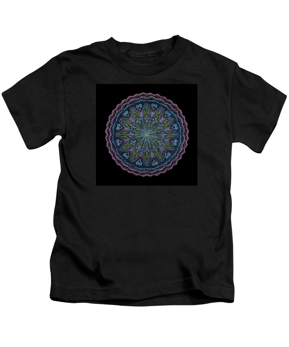 Healing Mandala Kids T-Shirt featuring the painting In Full Faith by Keiko Katsuta