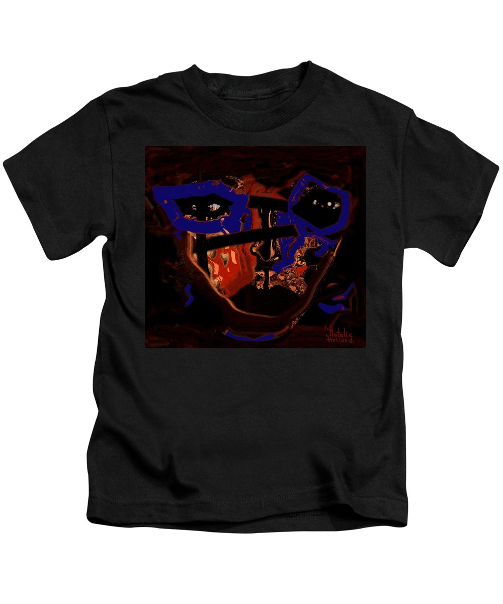 The Face Kids T-Shirt featuring the mixed media In Your Face by Natalie Holland