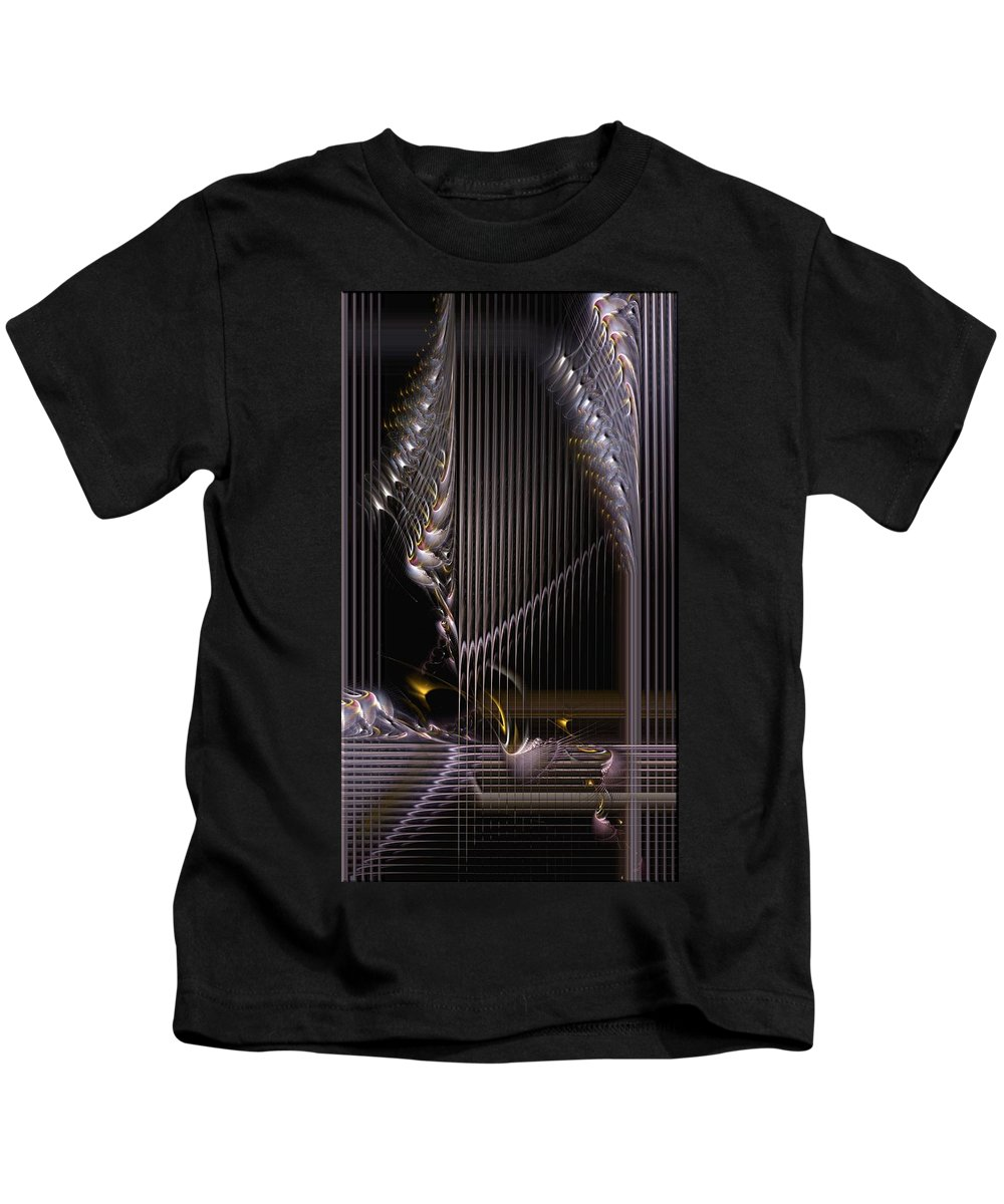 Abstract Kids T-Shirt featuring the digital art Incrementation by Casey Kotas