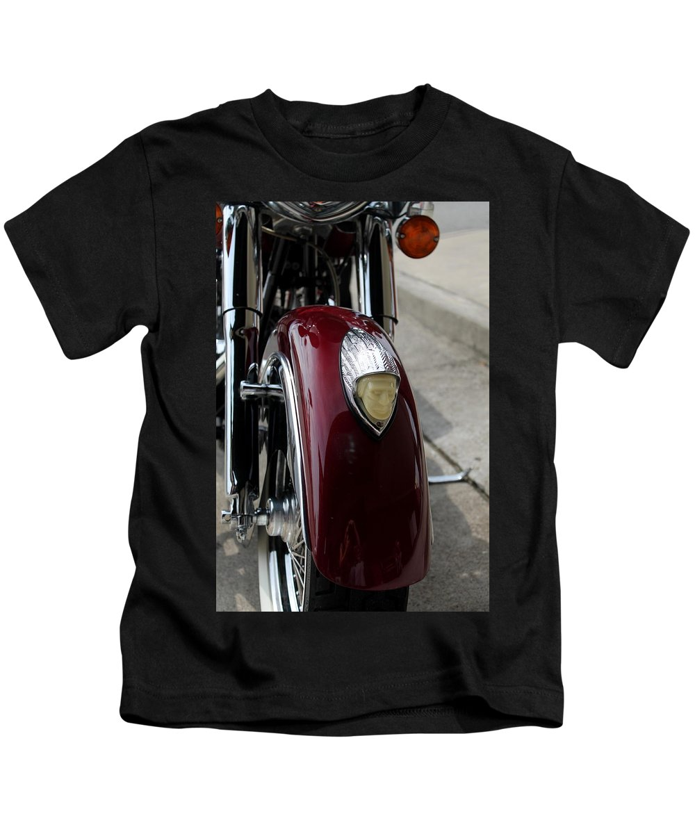 Indian Motorcycle Kids T-Shirt featuring the photograph Indian Motorcycle by Mary Koval