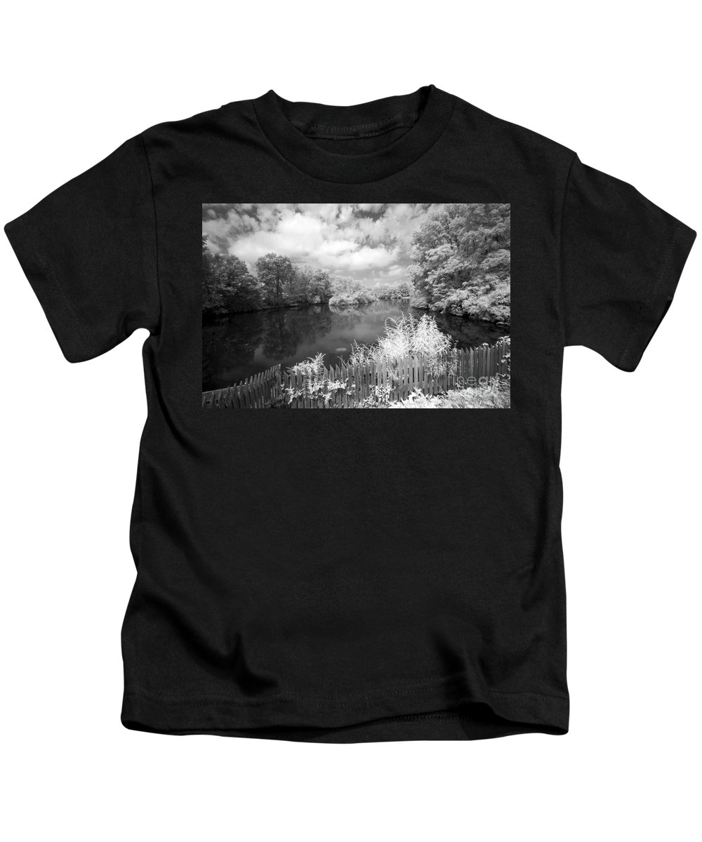 Infrared Kids T-Shirt featuring the photograph Infrared Mill Pond by Paul W Faust - Impressions of Light