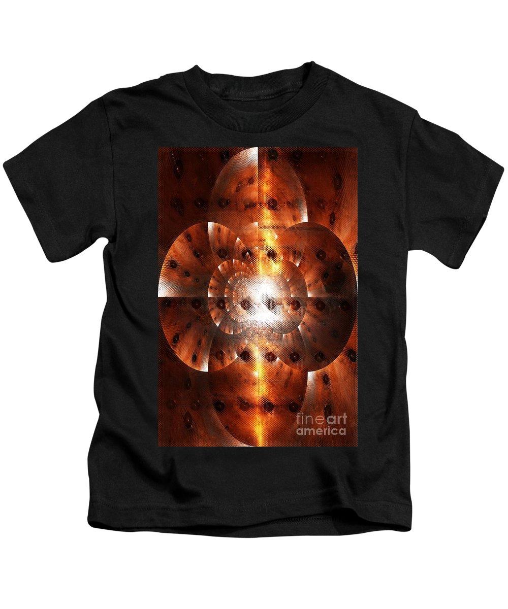 Digital Art Kids T-Shirt featuring the digital art Inner Strength - Abstract Art by Carol Groenen