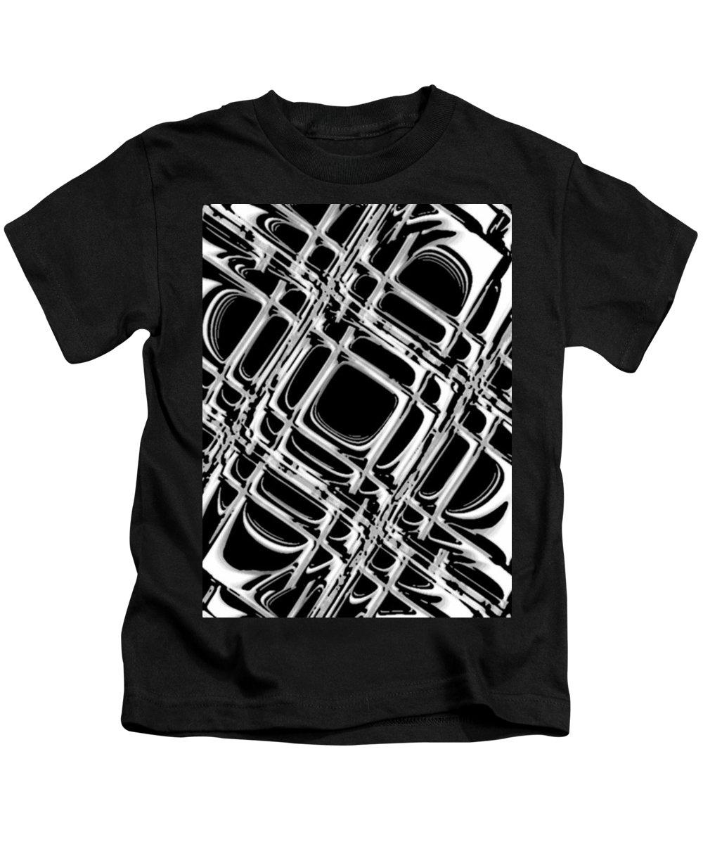 Black And White Kids T-Shirt featuring the digital art Inner Workings by Pharris Art