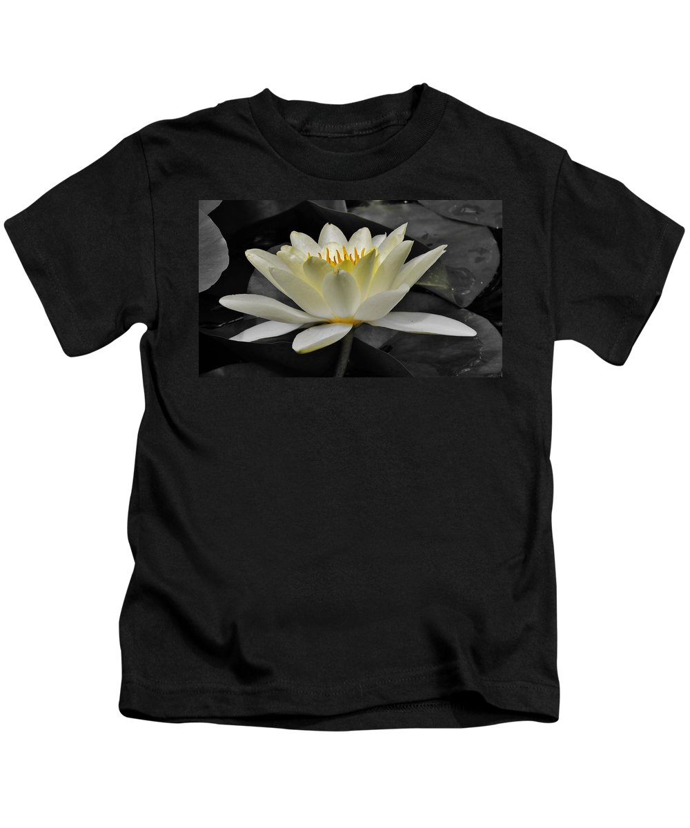 Lily Kids T-Shirt featuring the photograph Inside Glow by Michele Nelson