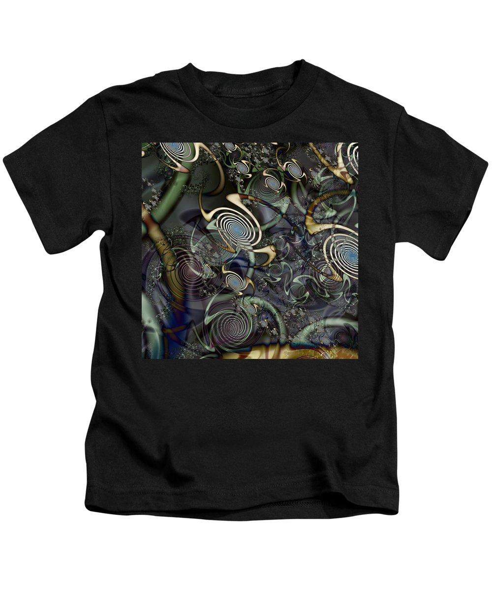 Abstract Kids T-Shirt featuring the digital art Interesting by Kiki Art