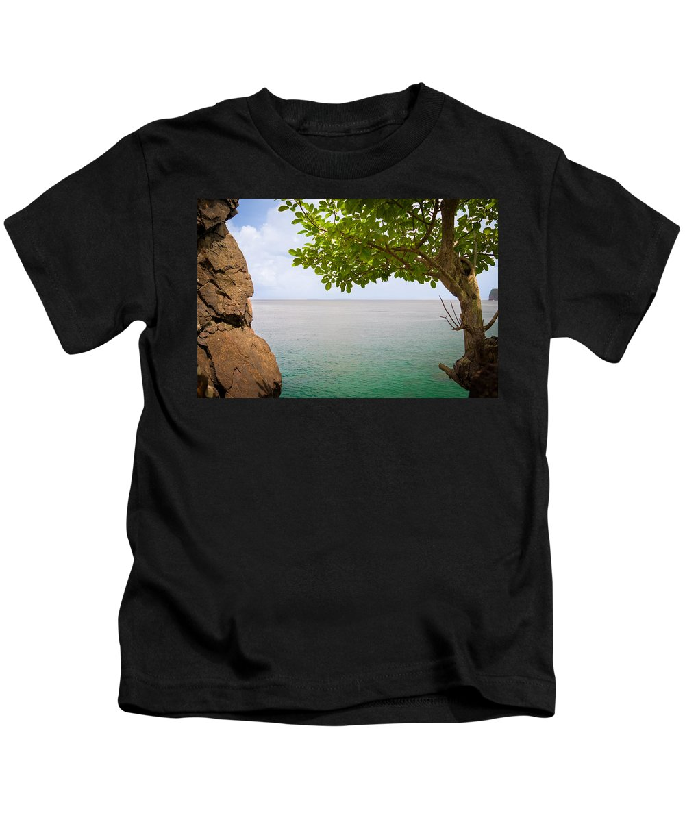Soufriere Kids T-Shirt featuring the photograph Island Hues by Ferry Zievinger