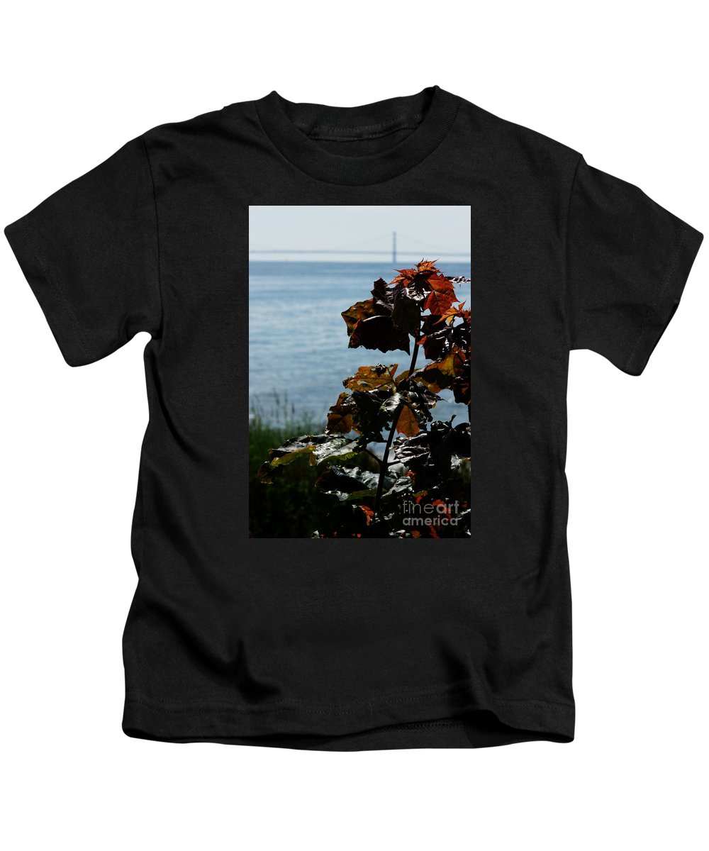 Mackinac-island Kids T-Shirt featuring the photograph Island View by Linda Shafer