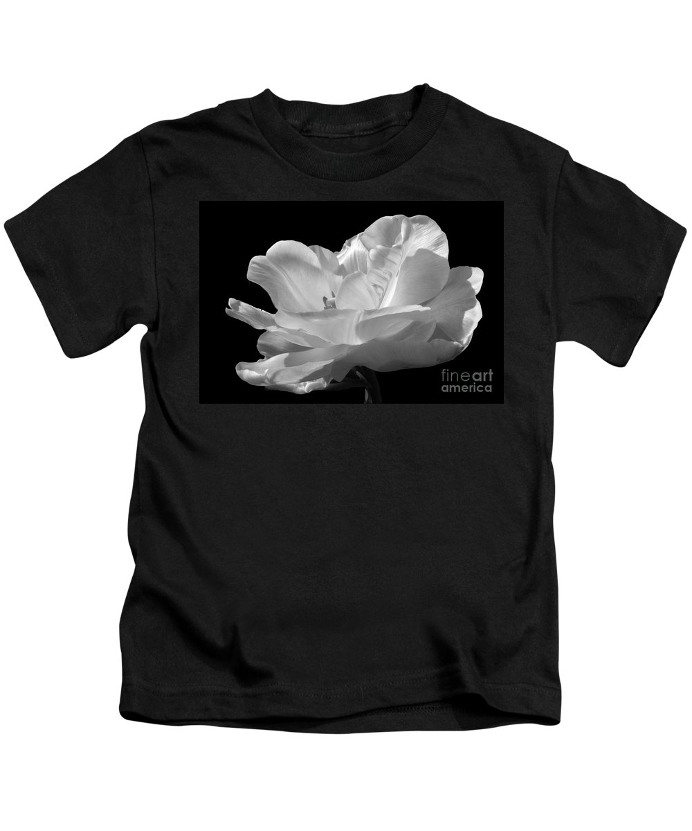 Tulip Kids T-Shirt featuring the photograph Isolated White Tulip by Darleen Stry