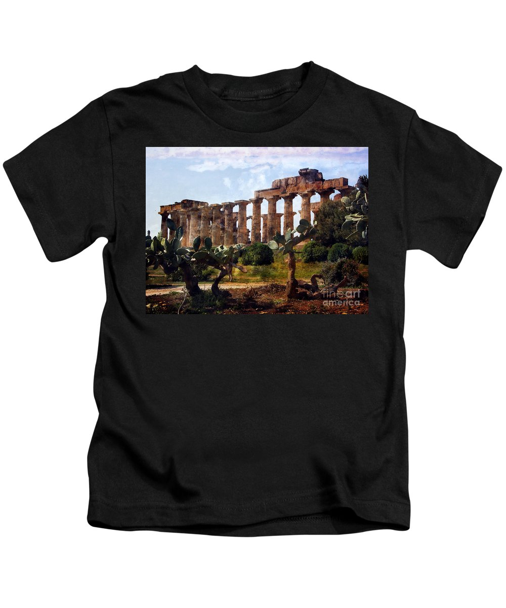 Italy Kids T-Shirt featuring the digital art Italian Ruins 1 by Timothy Hacker