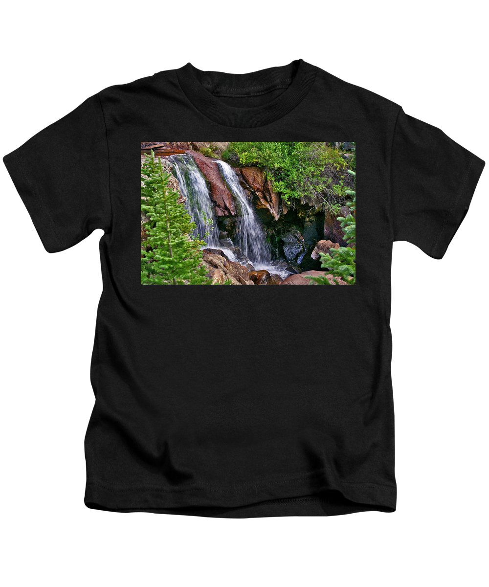 Water Kids T-Shirt featuring the photograph Ivanhoe Cascade by Jeremy Rhoades