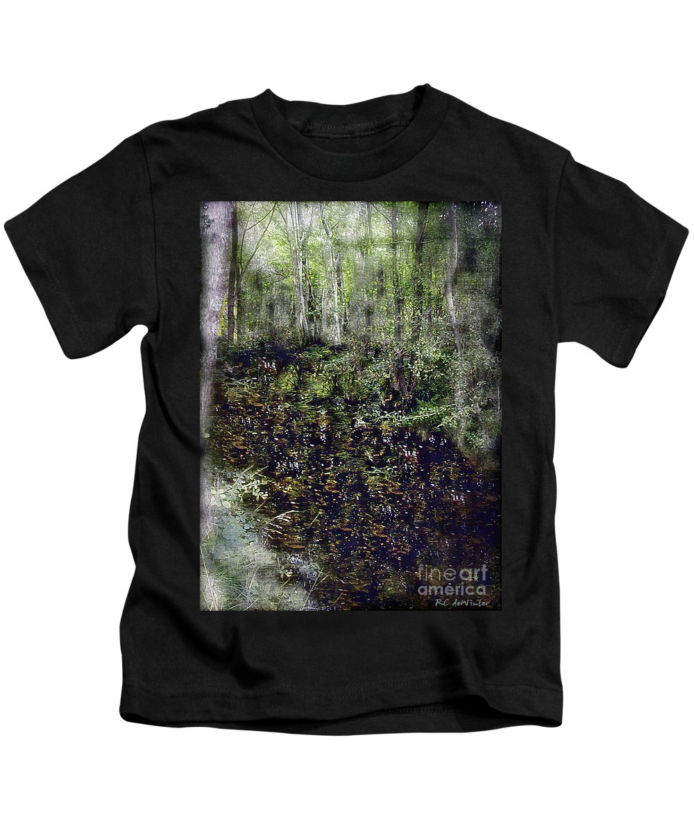 Forest Kids T-Shirt featuring the painting Jack Kell's Woods by RC DeWinter