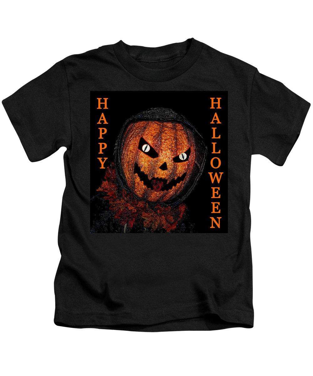 Jack Lantern Kids T-Shirt featuring the painting Jack Lantern Hh One by David Lee Thompson