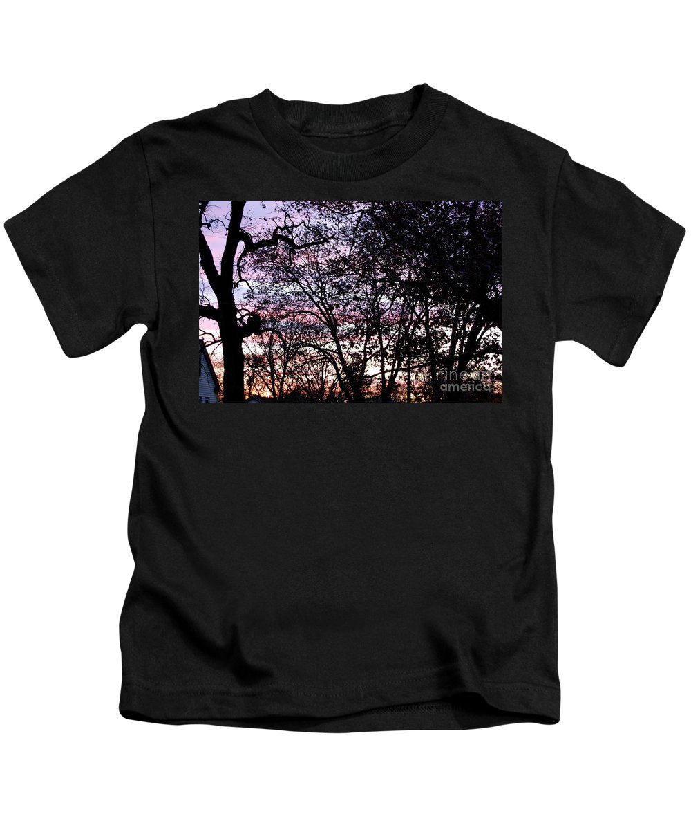 Trees Kids T-Shirt featuring the photograph Jammer Cotton Candy Trees by First Star Art