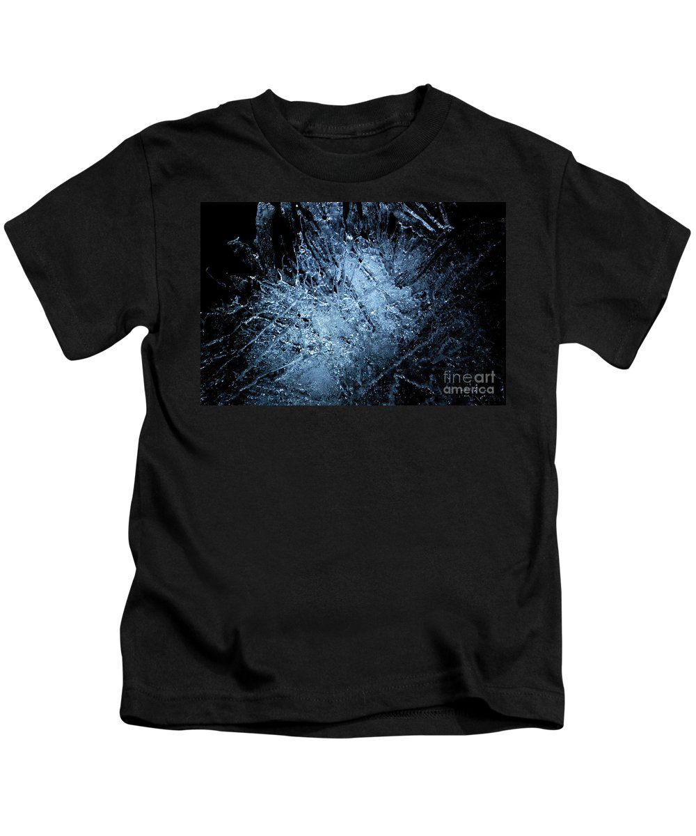 Photography Kids T-Shirt featuring the photograph jammer Frozen Cosmos by First Star Art