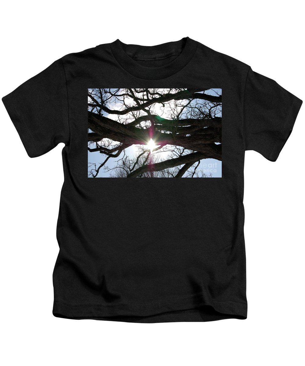 Black Kids T-Shirt featuring the photograph Jammer Lateralus Branching Trees by First Star Art