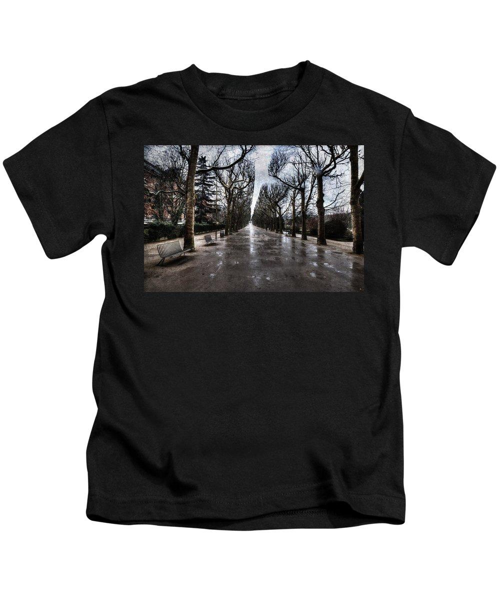 Evie Kids T-Shirt featuring the digital art Jardin Des Plantes Paris France by Evie Carrier
