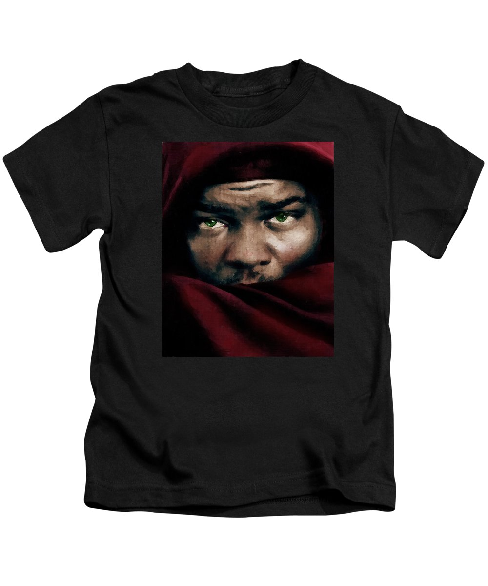 Othello Kids T-Shirt featuring the painting Jealous Othello by Georgiana Romanovna