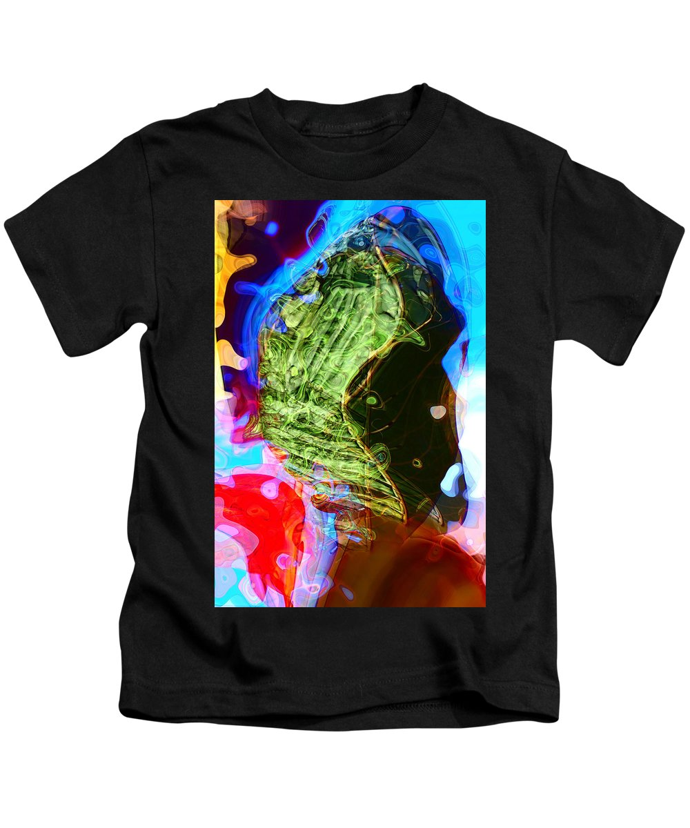 Abstract Kids T-Shirt featuring the digital art Jealousy by Richard Thomas