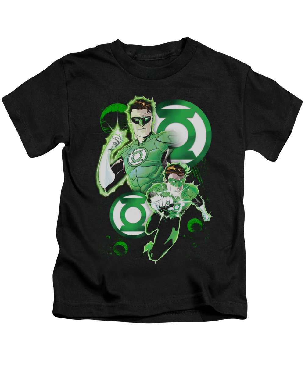 Justice League Of America Kids T-Shirt featuring the digital art Jla - Gl In Action by Brand A