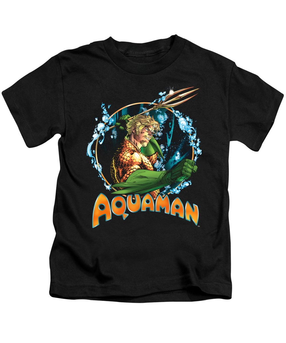Kids T-Shirt featuring the digital art Jla - Ruler Of The Seas by Brand A