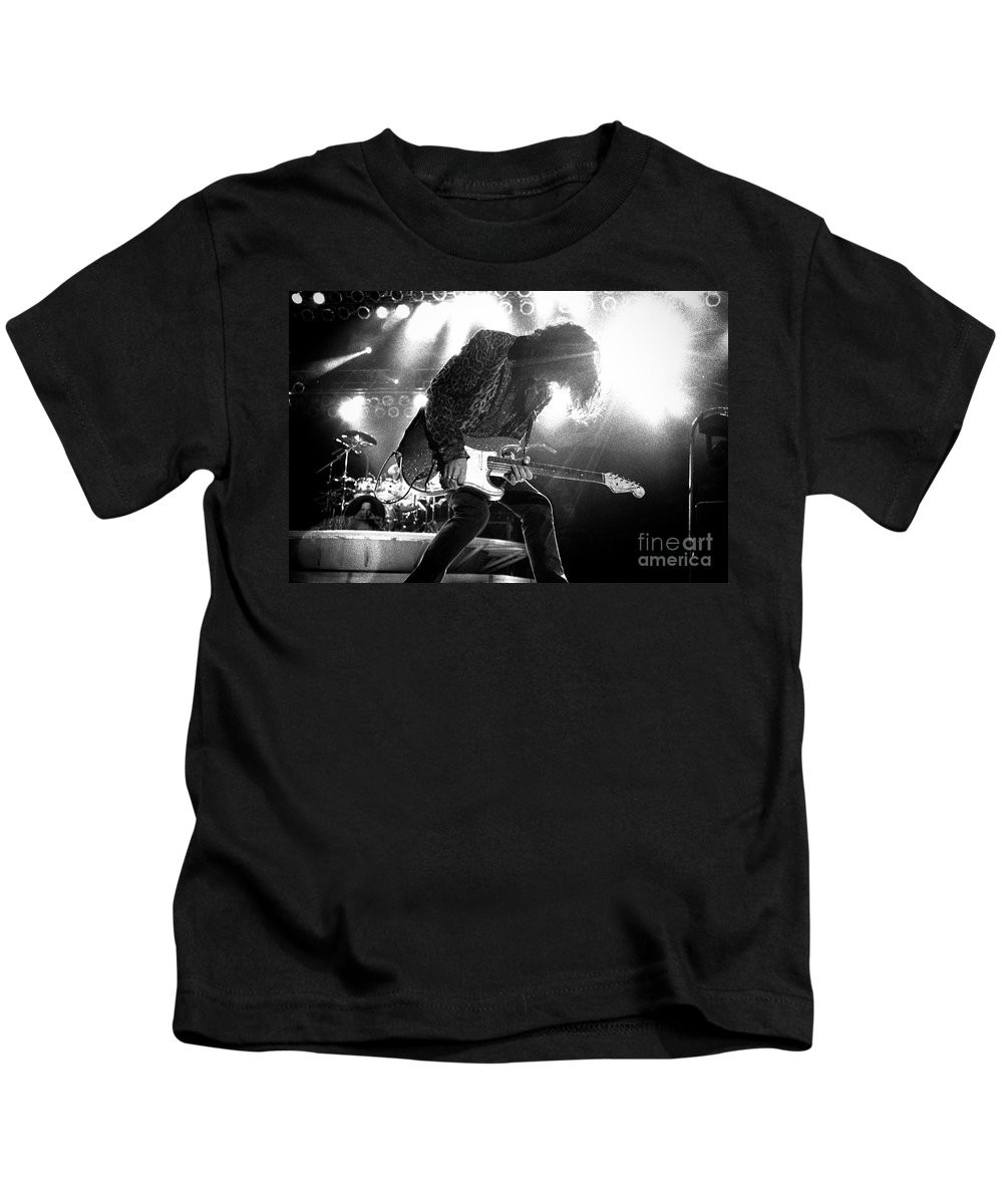 Joe Perry Kids T-Shirt featuring the photograph Joeperry-gp03 by Timothy Bischoff