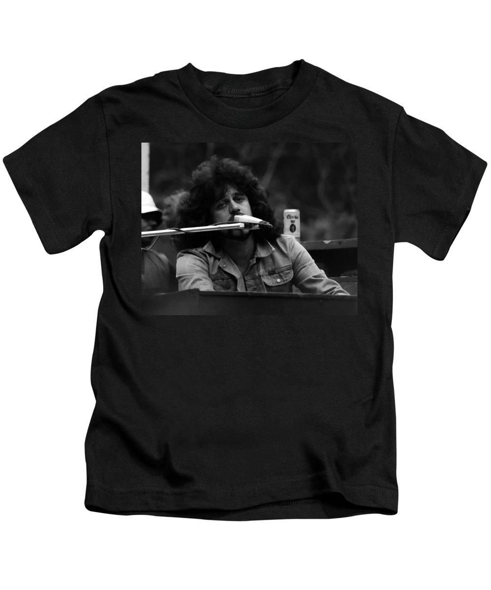 Journey Kids T-Shirt featuring the photograph Journey #6 Crop 3 Enhanced Bw by Ben Upham