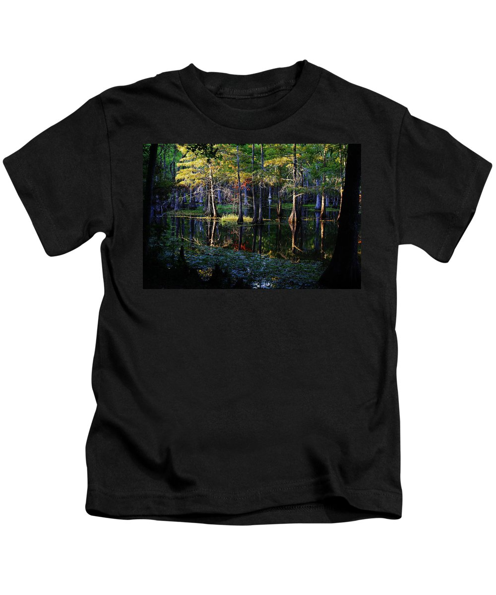 Roena King Kids T-Shirt featuring the photograph Kaleidoscope Light by Roena King