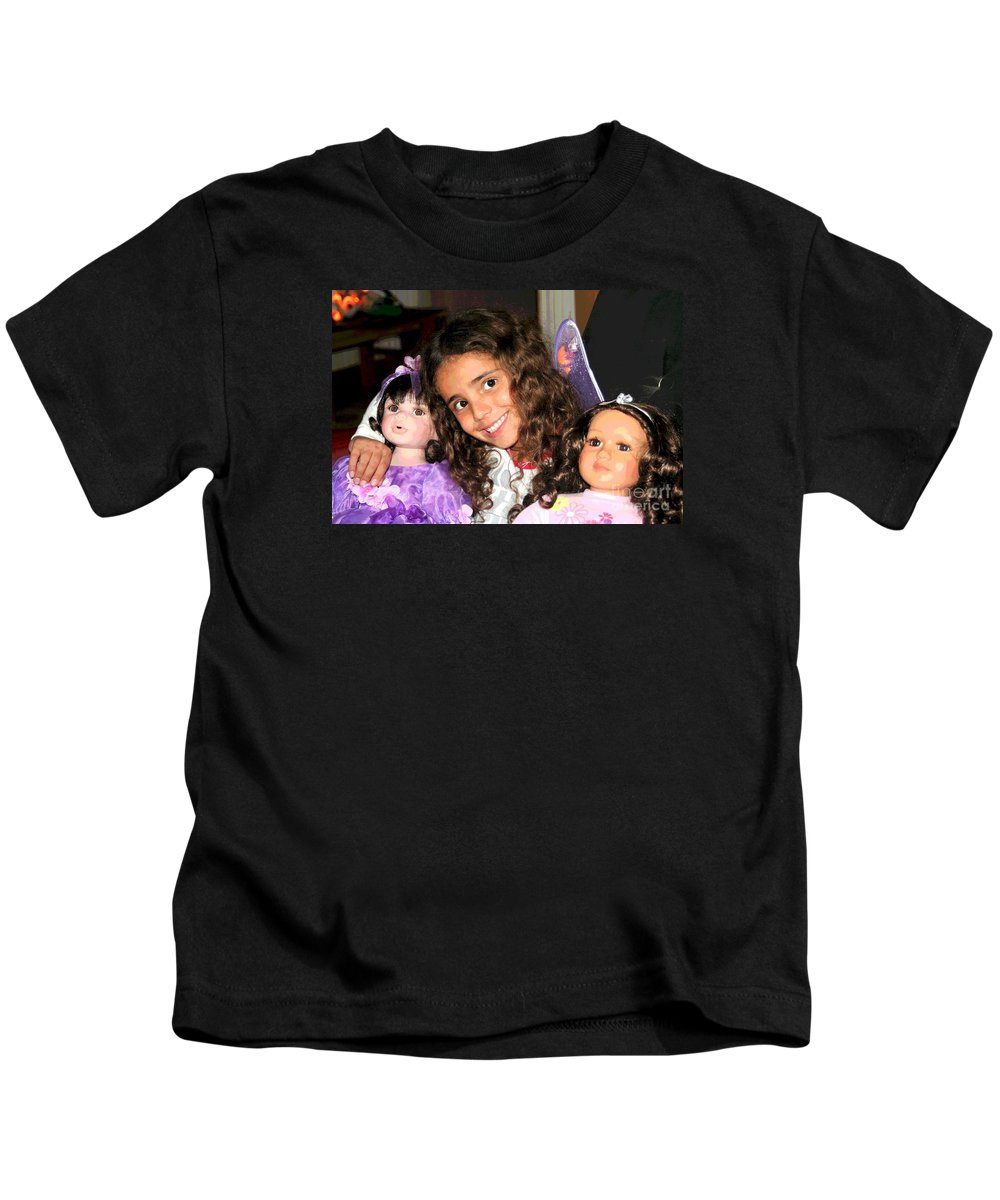 Grandchildren Kids T-Shirt featuring the photograph Karla's Dolls by The Art of Alice Terrill