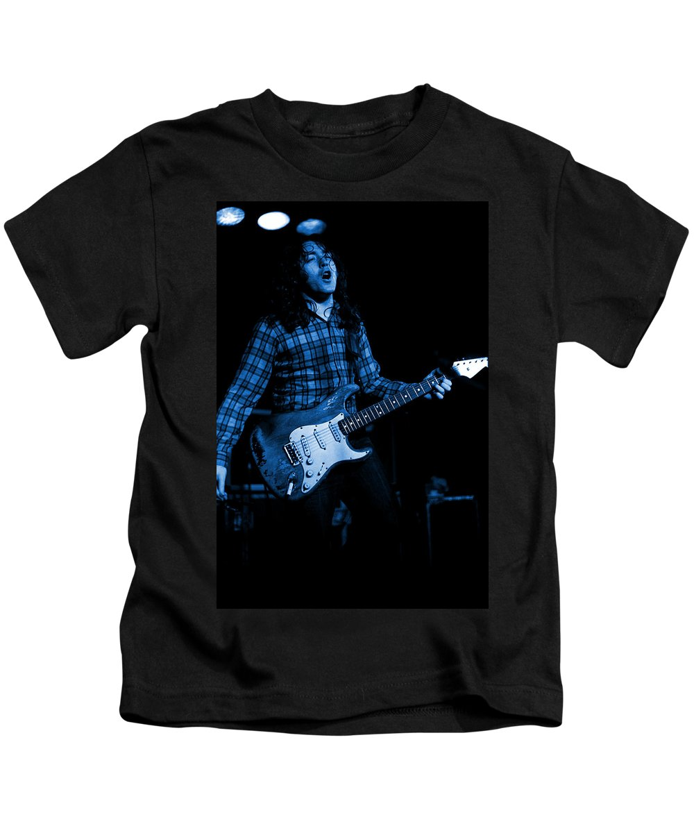 Guitarists Kids T-Shirt featuring the photograph Kent #50 In Blue by Ben Upham