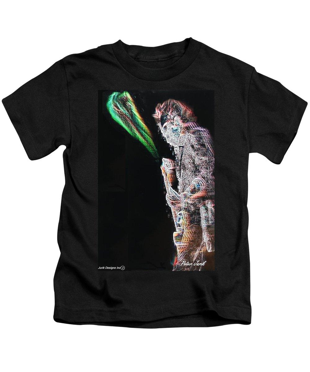 Band Kids T-Shirt featuring the digital art Kieth by Peter Jurik