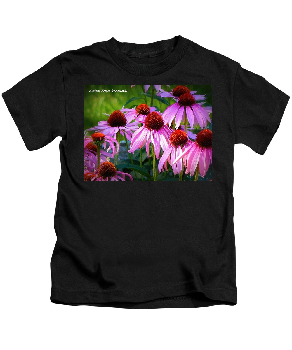Quintessential Prairie Plants Kids T-Shirt featuring the photograph Kissed By Sunlight by Kimberly Woyak