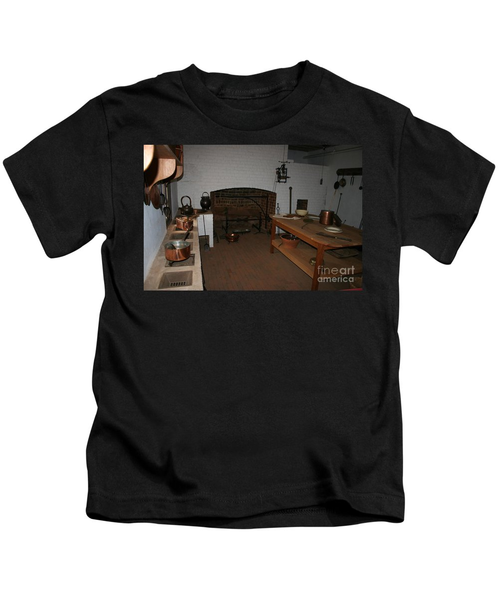 Kitchen Kids T-Shirt featuring the photograph Kitchen At Monticello by Christiane Schulze Art And Photography