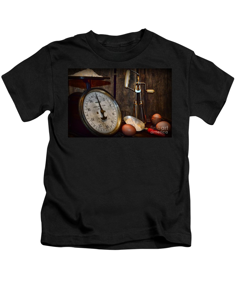 Paul Ward Kids T-Shirt featuring the photograph Kitchen - The Vintage Baker by Paul Ward
