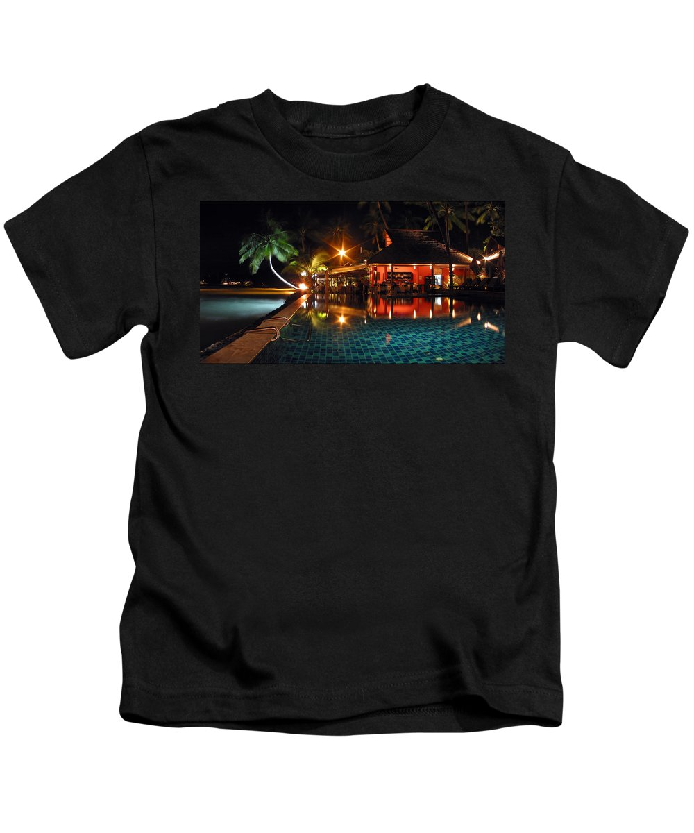3scape Kids T-Shirt featuring the photograph Koh Samui Beach Resort by Adam Romanowicz