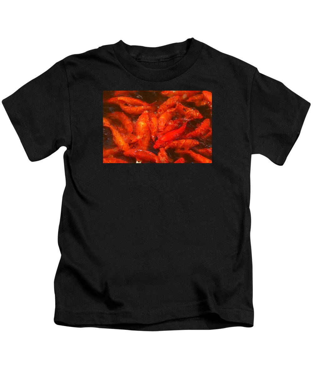 Koi Kids T-Shirt featuring the photograph Koi Carp by FL collection