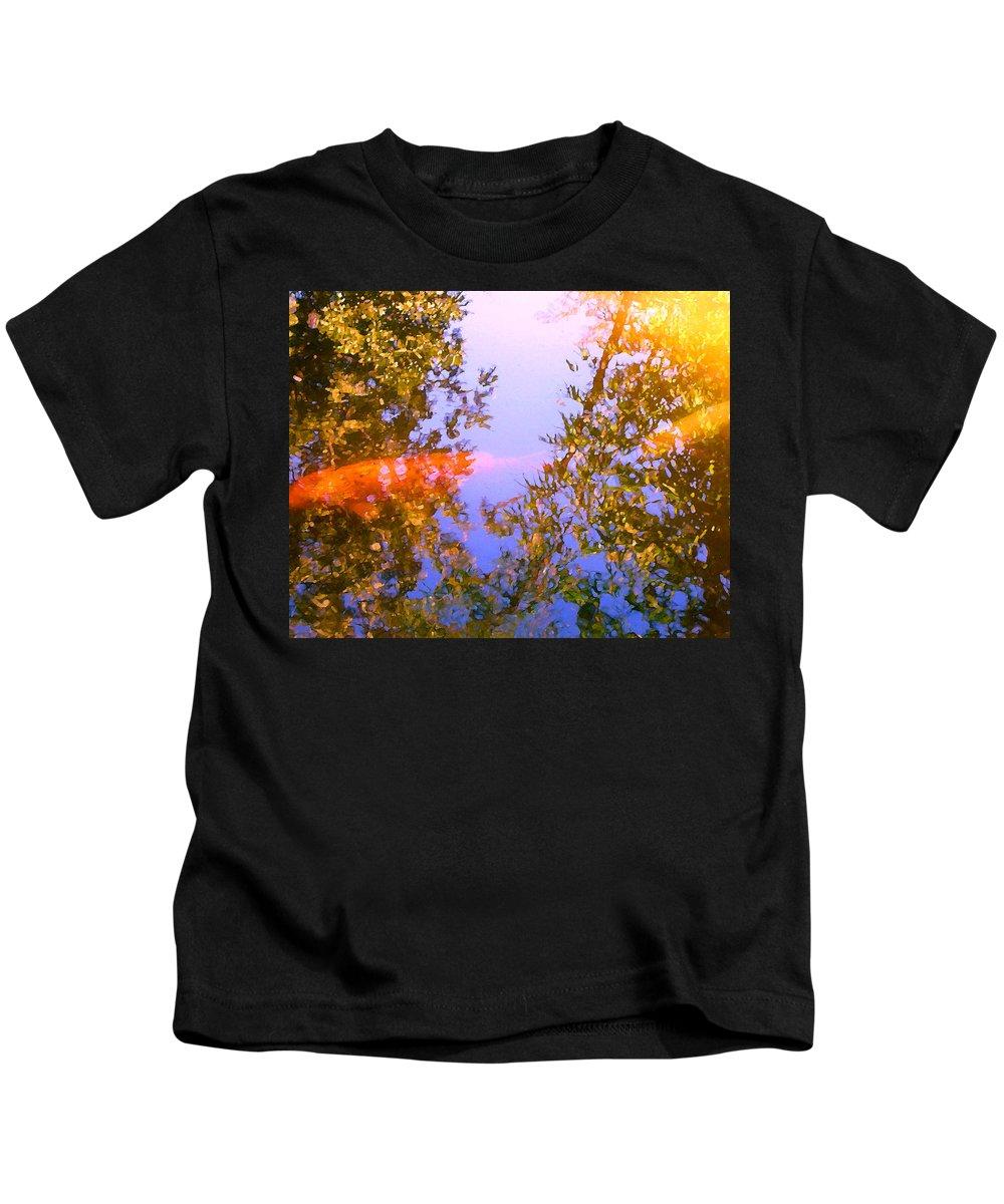 Animal Kids T-Shirt featuring the painting Koi Fish 4 by Amy Vangsgard