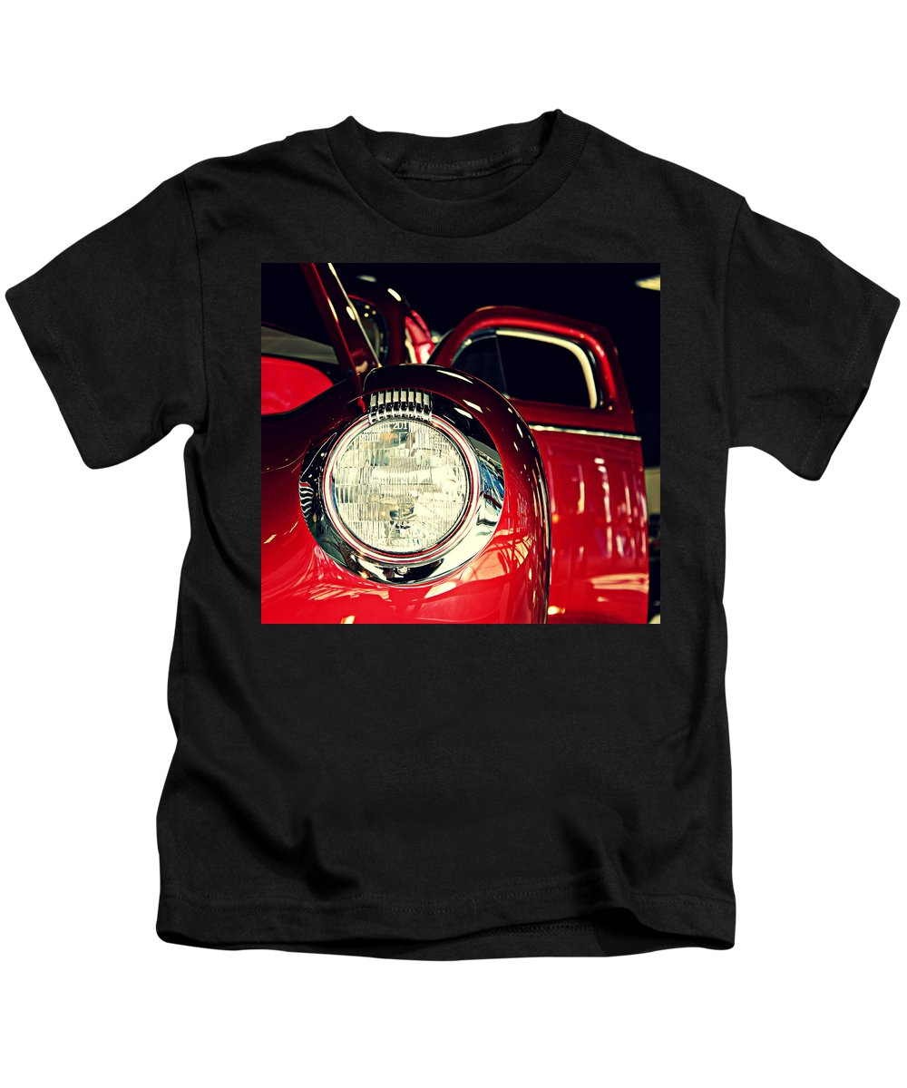 Kustom Kids T-Shirt featuring the photograph Kustom Red Coupe by Steve Natale